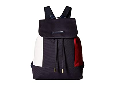 Tommy Hilfiger Flag Canvas Flap Backpack (Tommy Navy) Backpack Bags
