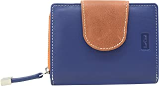 Le Craf Maria Blue Leather Wallet Purse For Women And Girls