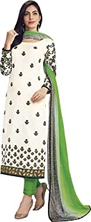 WHITE AND GREEN CASUAL STRAIGHT CUT STYLE SUIT