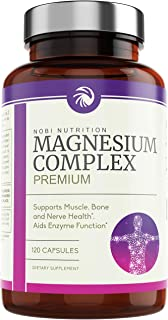 Nobi Nutrition High Absorption Magnesium Complex - Premium Magnesium Supplement for Sleep, Stress & Anxiety Relief, Leg Cr...