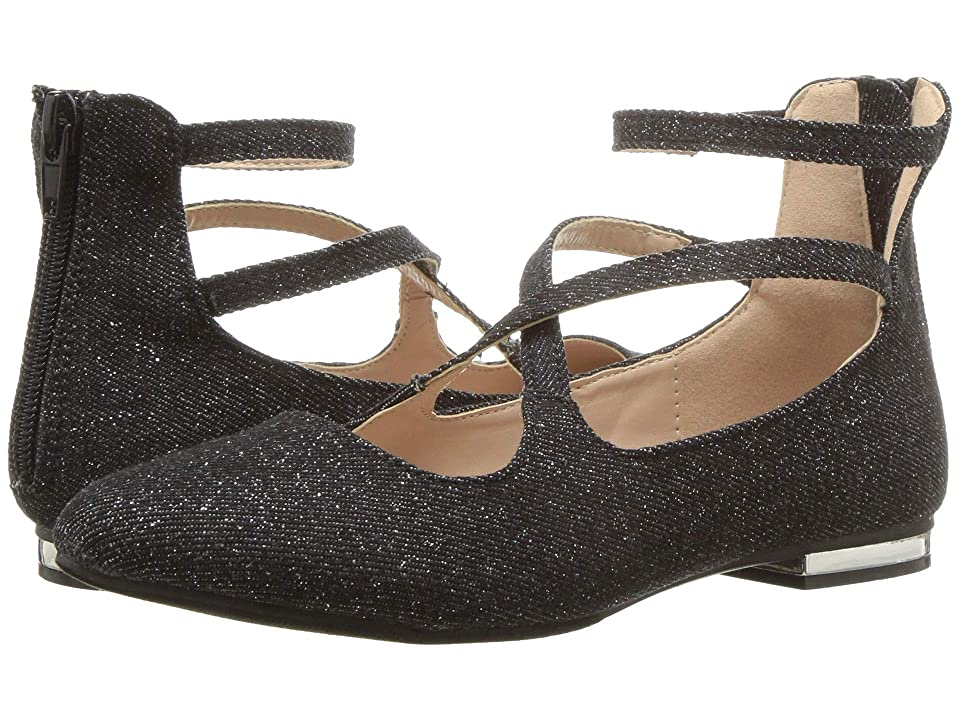 Steve Madden Kids JBevill (Little Kid/Big Kid) (Black Glitter) Girl