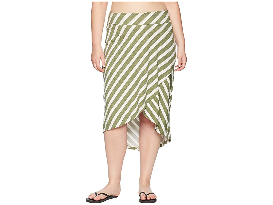 Aventura Clothing Plus Size Janessa Skirt (Oil Green) Women