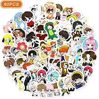 Realcome 80 Pcs BTS Stickers Kpop Stickers