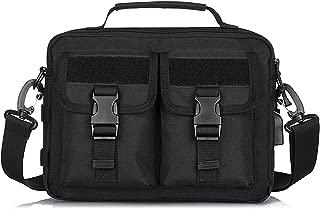 Multifunction Tactical Messenger Bag Nylon Shoulder Briefcase Handbags with USB Port