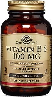 Solgar – Vitamin B6, 100 mg, 250 Vegetable Capsules