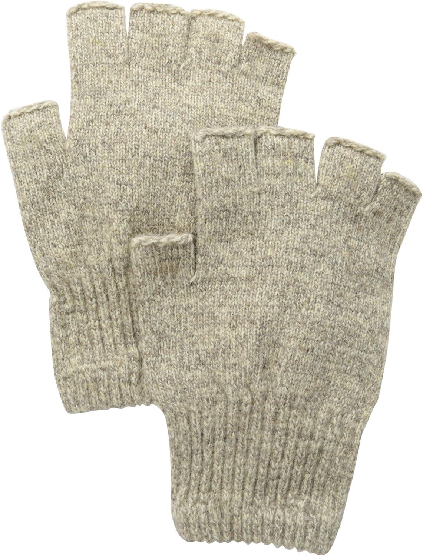 Fox River Men's Mid-Weight Fingerless Glove, Brown Tweed