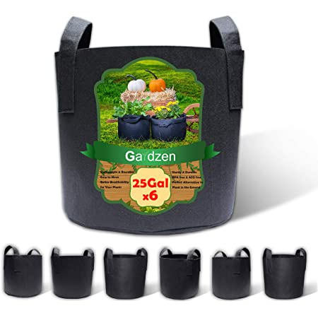 10 Pots HTG Supply 10-Pack Phat Sacks 20-Gallon Fabric Grow Pot