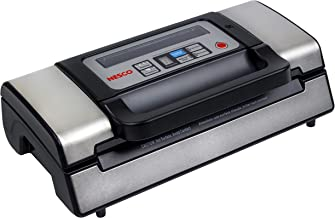 NESCO VS-12, Deluxe Vacuum Sealer with Bag Starter Kit and Viewing Lid, Compact Design, Silver