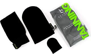 Self Tanner Tanning Mitt - Tanning Mitt Applicator Set Includes Exfoliating Gloves, Self Tanner Mitt for Body and Self Tanning Mitt for Face Tanner - Self Tan with a Tanning Mit for the Best Fake Tan