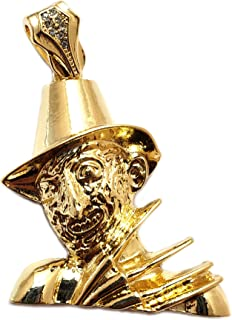 Hip Hop Gold Plated Freddy Krueger Charm Pendant