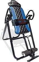 Health Gear HGI 4.2 Patent Pending Diamond Edition Heat & Vibration Massage Inversion Table, Blue, Blue