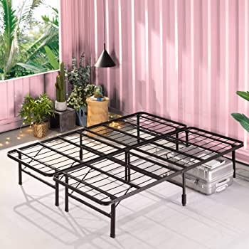 Zinus SmartBase Zero Assembly Bed Frame, Full, Black