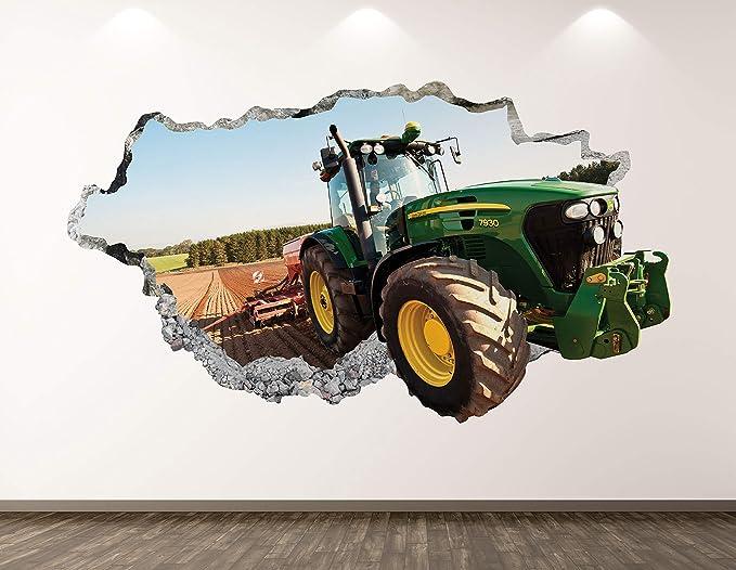 Modern Tractor Wall Art Sticker Mural Decal Poster Farm Farmhouse Kids Room BZ39