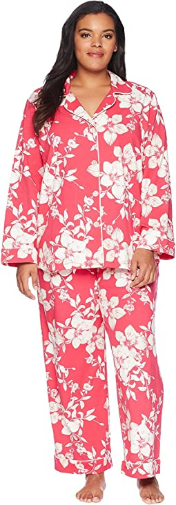 BedHead - Plus Size Long Sleeve Classic Two-Piece Pajama Set