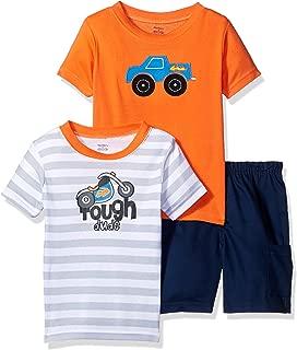 Gerber Baby Boys' 3-Piece Shirt and Short Set