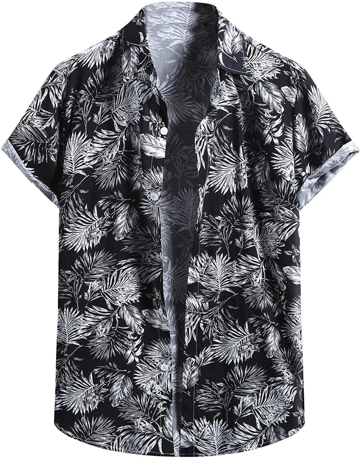 FIN86 Al sold out. Year-end gift Summer Men's Fashion Casual Blouse Men Shir