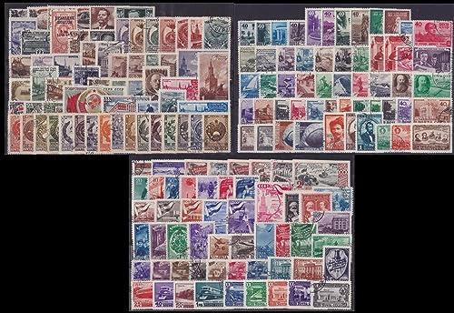 Goldhahn Sowjetunion gestempelt aus 1945-1949 mit Nr. 1092-1097, 1162-1167B,1316-1317,1391 Briefmarken für Sammler
