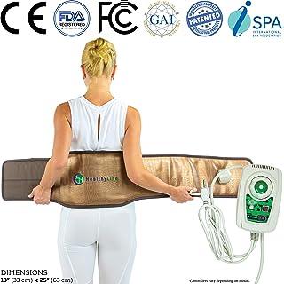 HealthyLine - Far Infrared Heating Belt - Natural Tourmaline Stones - Negative Ions - Pebble T Belt Firm InfraMat Pro®