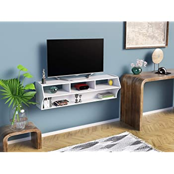 Amazon Com Martin Furniture Floating Tv Console 60 Light Brown Kitchen Dining