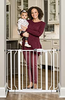 Regalo Easy Step Extra Wide Baby Gate, Includes 4-Inch and 4-Inch Extension Kits, 4 Pack of Pressure Mounts Kit and 4 Pack of Wall Mount Kit