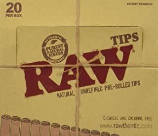 Raw Natural Unrefined Pre-Rolled Filter Tips Full Box Of 20 (21 Per Box)