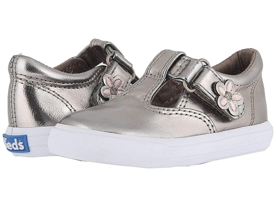 Keds Kids Daphne T-Strap 2 (Toddler/Little Kid) (Metallic) Girls Shoes