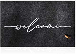 Large Welcome Door Mat 60x90CM with Durable Non Slip Rubber Backing Ultra Absorb Mud Easy Clean Outdoor Mats for Front Doo...