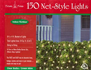 Trim-a-Tree 150 Indoor Outdoor Net Style Christmas Lights (Clear)