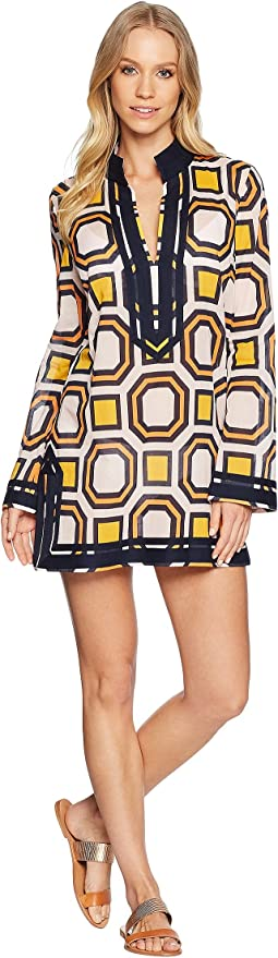 Tory Beach Octagon Square Tunic Cover-Up