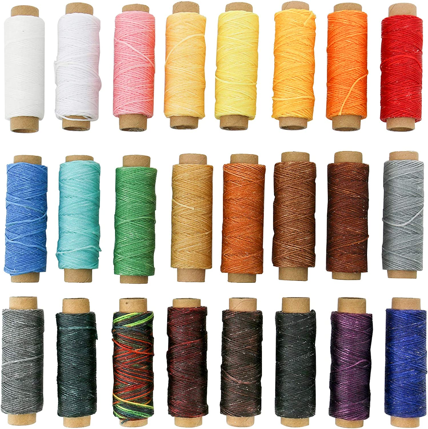 Outlet ☆ Free Shipping WerkWeit Leathercraft Waxed Thread 24 Sale Special Price 1320Yards Hand Colors Stit