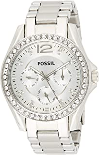 Fossil Women's Riley Quartz Stainless Steel Multifunction Watch Color: 18