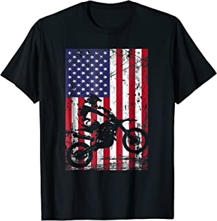 Dirt Bike American Flag Shirt 4th of july t shirt
