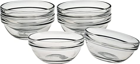 Luminarc Stackable 3 Inch Glass Pinch Bowl, Set of 6
