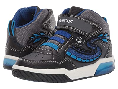 Geox Kids Jr Inek 7 (Little Kid) (Black/Blue) Boys Shoes
