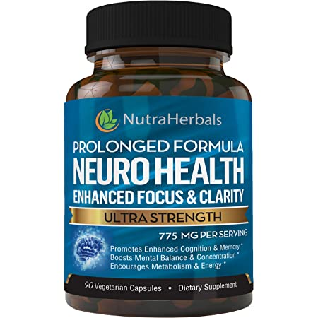 """Brain Booster Supplement -""""90 Day Supply""""- Nootropics Support Mental Clarity, Memory & Focus. Scientifically Formulated for Prolonged Performance - DMAE, Bacopa Monnieri, Rhodiola Rosea."""