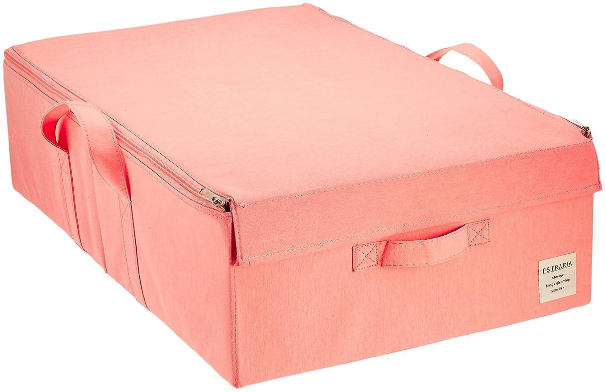 歌詞バッジ技術東洋ケース ストレリアナチュレ ケース 収納ボックス ふた付き ベッド下収納 幅39×奥行60×高さ18cm ピンク ESTN-CBUB-PK