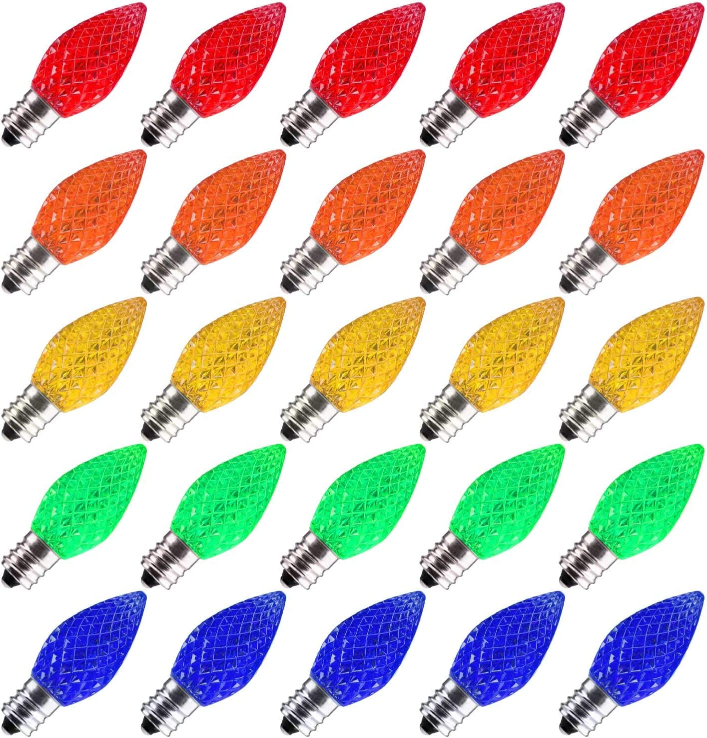 25% OFF 50 Pack C7 Led Replacement Light Shatterproof Bulb Popular brand in the world Christmas