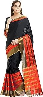 Sarees for Women's Cotton Silk Woven Saree with Blouse,Party Sari