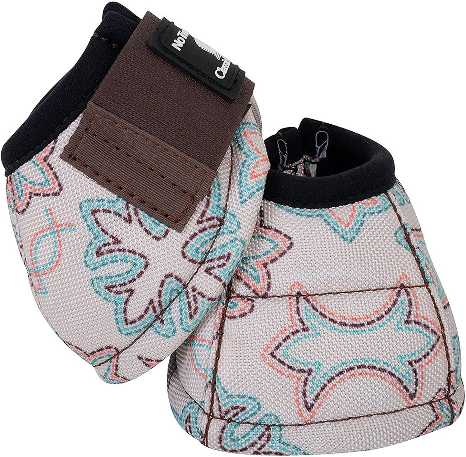 Classic Equine Small Dyno Designer LINE NO Turn Horse Bell Boots Boot Stitch