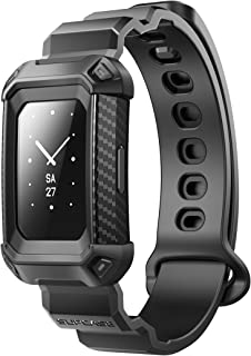 SupCase Unicorn Beetle Pro Watch Bands for Fitbit Charge 3 / Charge 4, Protective Replacement Wristband Case Band(Black)