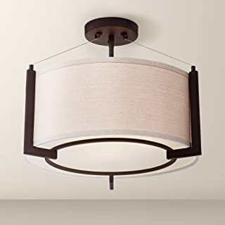 Stinson Modern Ceiling Light Semi Flush Mount Fixture Bronze 17 1/4