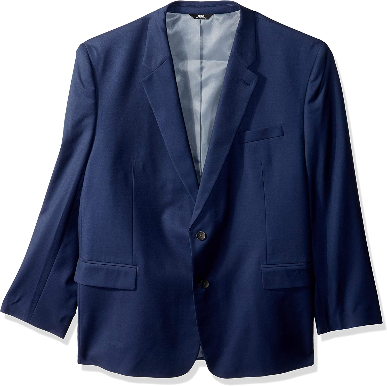 J.M. Haggar mens Texture Weave Stretch Classic Fit Suit Separate Coat