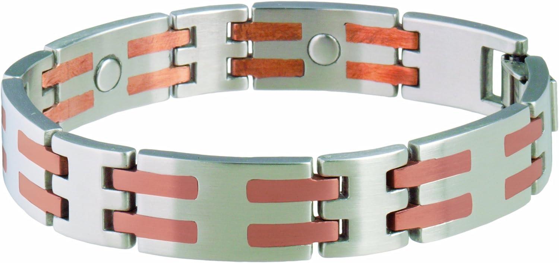 Sabona Stainless//Copper Bar Magnetic Bracelet
