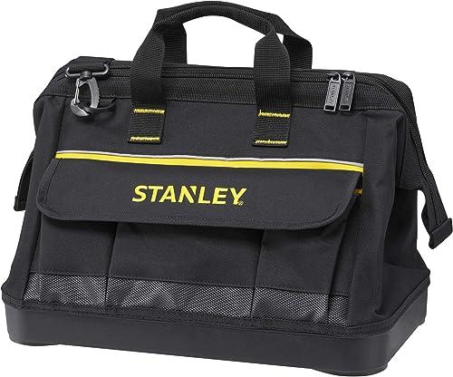 STANLEY Bolsa para Herramientas Grande con Cremallera 45cm x 27.5cm x 23.5 cm Base Reforzada 1-96-183