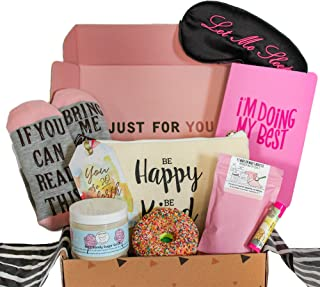 Milky Chic Special Womens Birthday Gift Box Basket Set for Mom, Wife, Sister, Friend, Pack of 8 Fun Unique -Mothers day gifts
