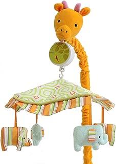 My ABCs Friends Giraffe Musical Crib Mobile Elephants, Jungle Safari