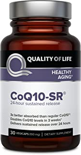 Powerful CoQ10 Supplement – Sustained Released MicroActive CoQ10 for Enhanced Absorption – 100mg of CoQ10 Per Capsule Supp...