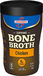 Swanson Sipping Bone Broth, Chicken Bone Broth, 10.75 Ounce Sipping Cup