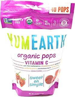 Yummy Earth Lollipop, OG2, VIT C, 40+, 8.5 OZ (2 Pack)