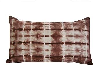 Cojín de lino, color café, shibori,Cojín 30 x50 cm, BeccaTextile
